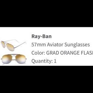 Ray ban aviator 57mm